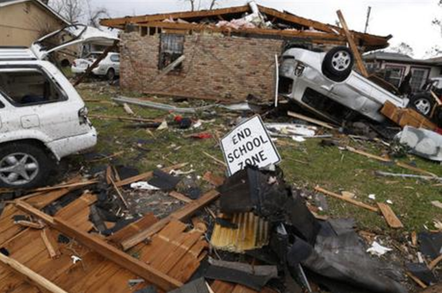 A storm system that included as many as six tornadoes churned through southeastern Louisiana on Tuesday, injuring about 40 people.