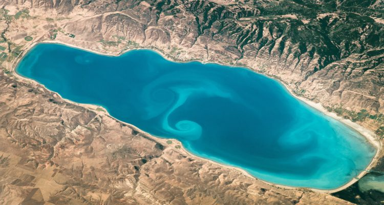 Today's Image of the Day comes courtesy of the NASA Earth Observatory and features a stunning satellite image of Bear Lake in the Rocky Mountains.