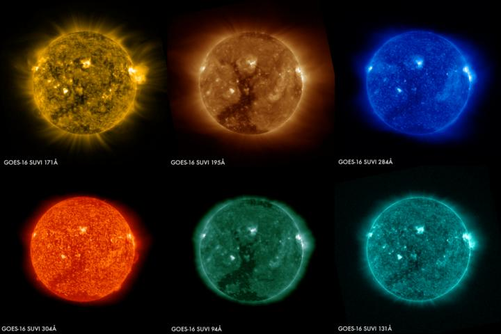 NASA has released the very first images of the sun taken by the Solar Ultraviolet Imager (SUVI) on NOAA's GOES-16 satellite.