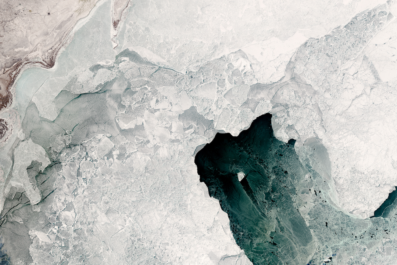 Today's Image of the Day comes thanks to the NASA Earth Observatory and features a variety of ice formations in the Caspian Sea.