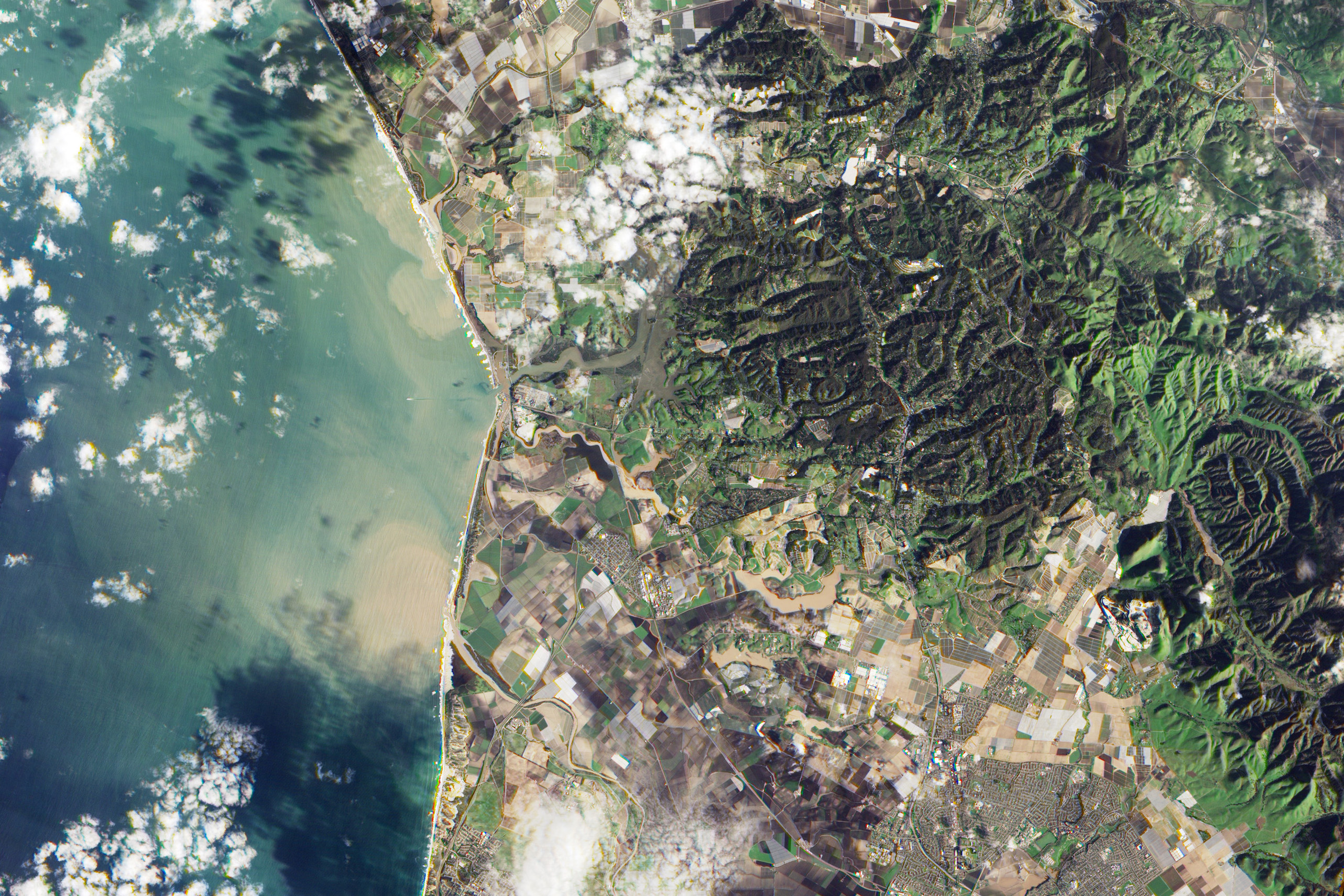 Today's Image of the Day comes courtesy of NASA and shows sediment being dumped into the Monterey Bay by the Salinas and Pajaro Rivers.