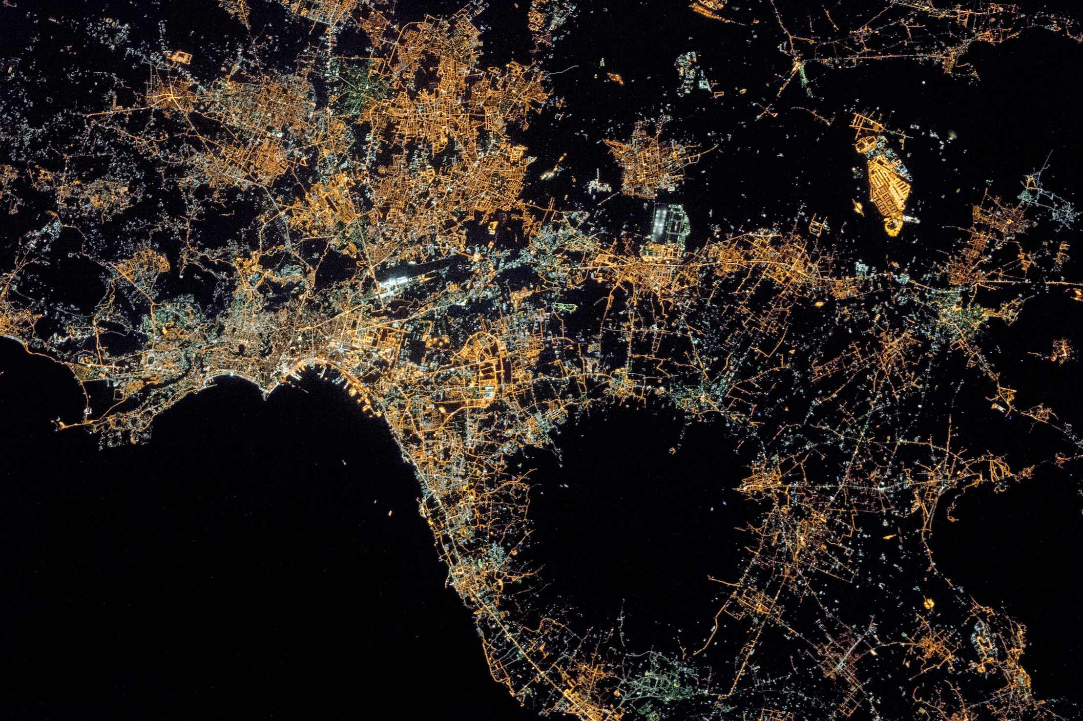 Today's Image of the Day comes courtesy of the NASA Earth Observatory and features a stunning overhead view of nighttime in Naples, Italy.