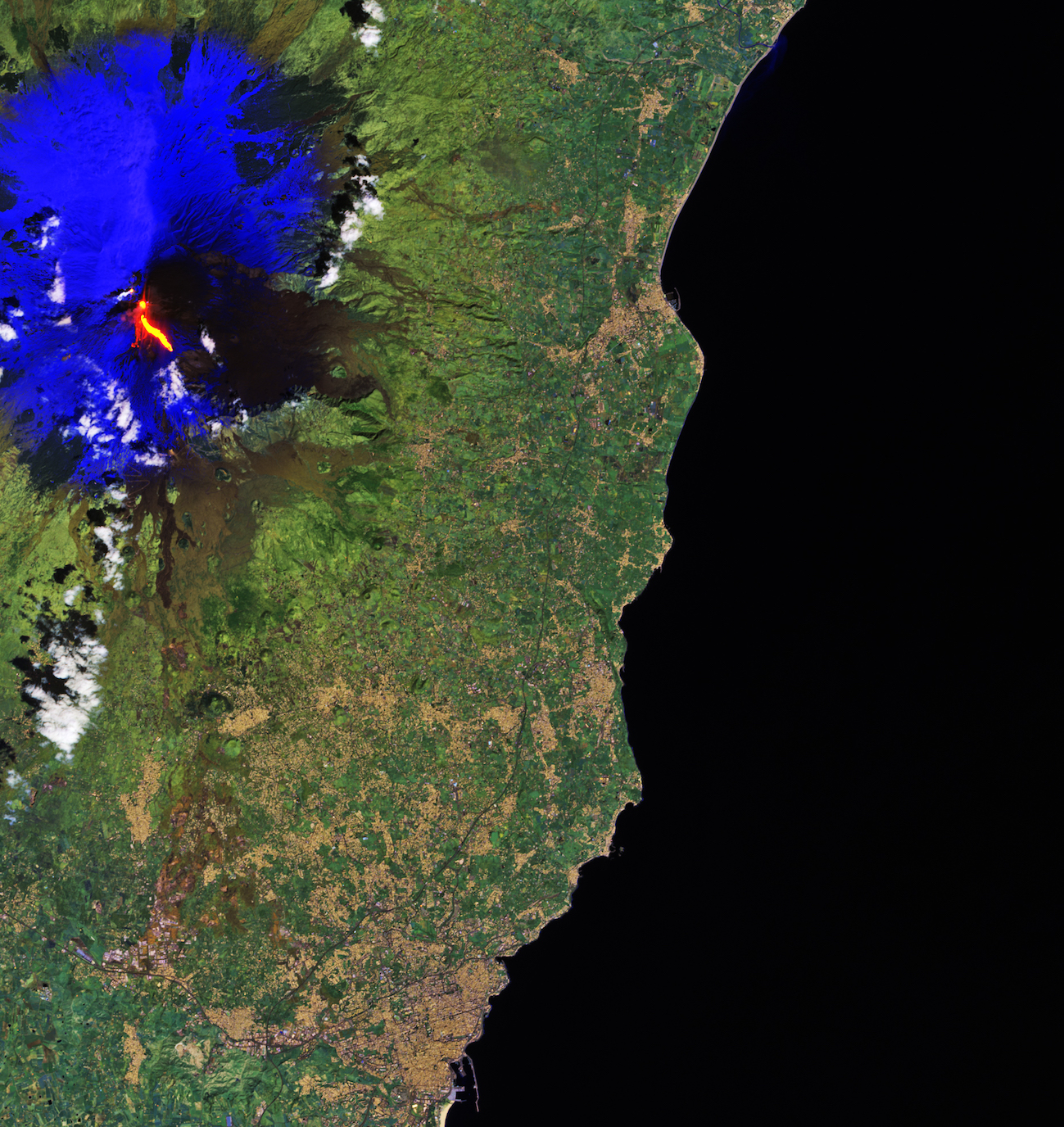 Today's Image of the Day comes from the European Space Agency and features a look at the erupting Mount Etna volcano in Sicily.
