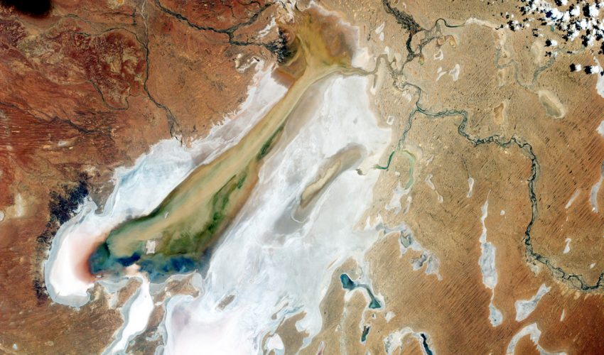 Today's Image of the Day comes from the NASA Earth Observatory and features a look at Australia's largest inland lake: Lake Eyre.