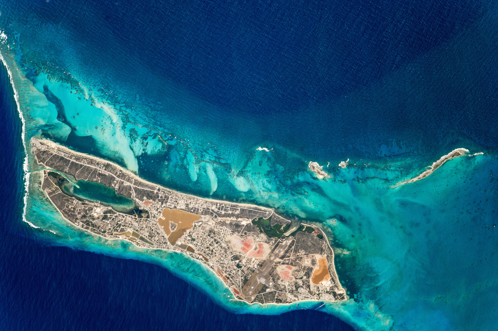 Today's Image of the Day comes courtesy of the NASA Earth Observatory and features an overhead look at Grand Turk Island.