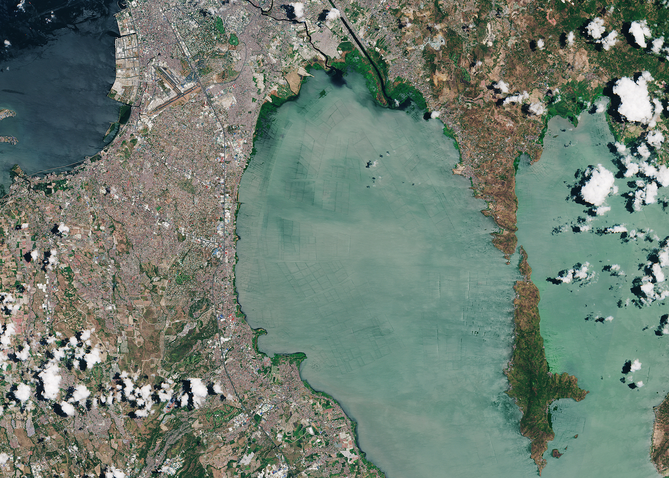 Today's Image of the Day comes thanks to the European Space Agency and features and overhead look at Manila Bay and Laguna de Bay.