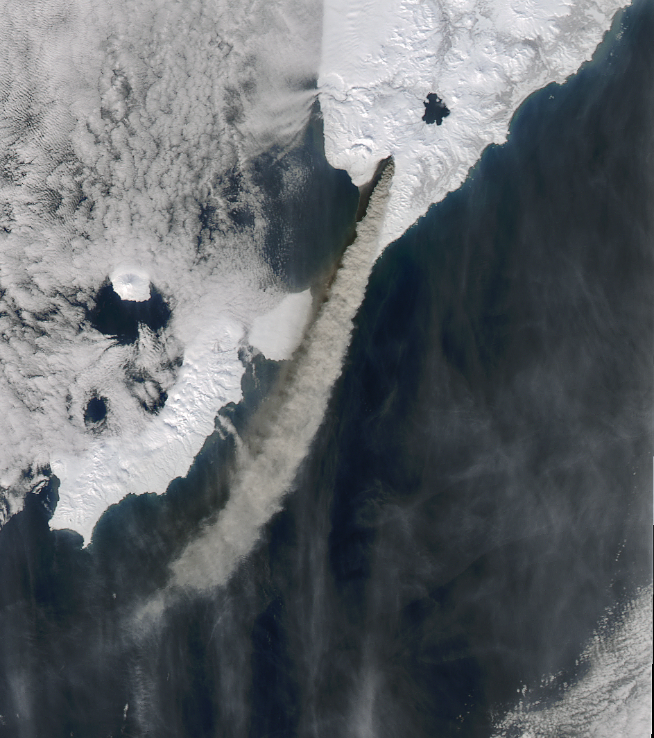 Today's Image of the Day comes thanks to the NASA Earth Observatory and features Russia's Kambalny volcano showing activity for the first time in 250 years.