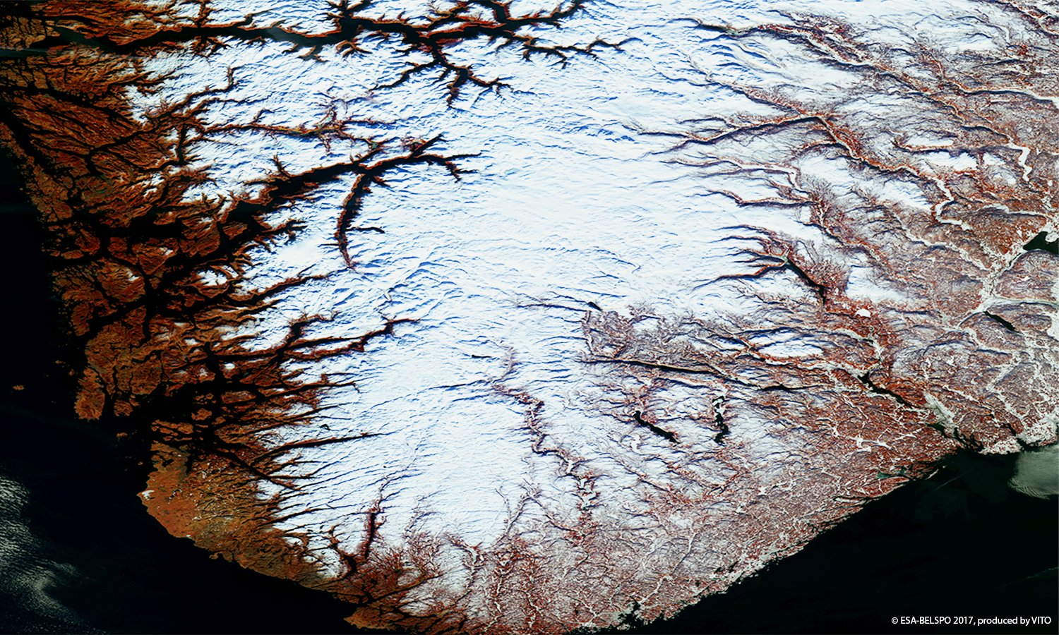 Today's Image of the Day looks like something out of a Tim Burton movie, but it's actually a photo of Norway's famous fjords.