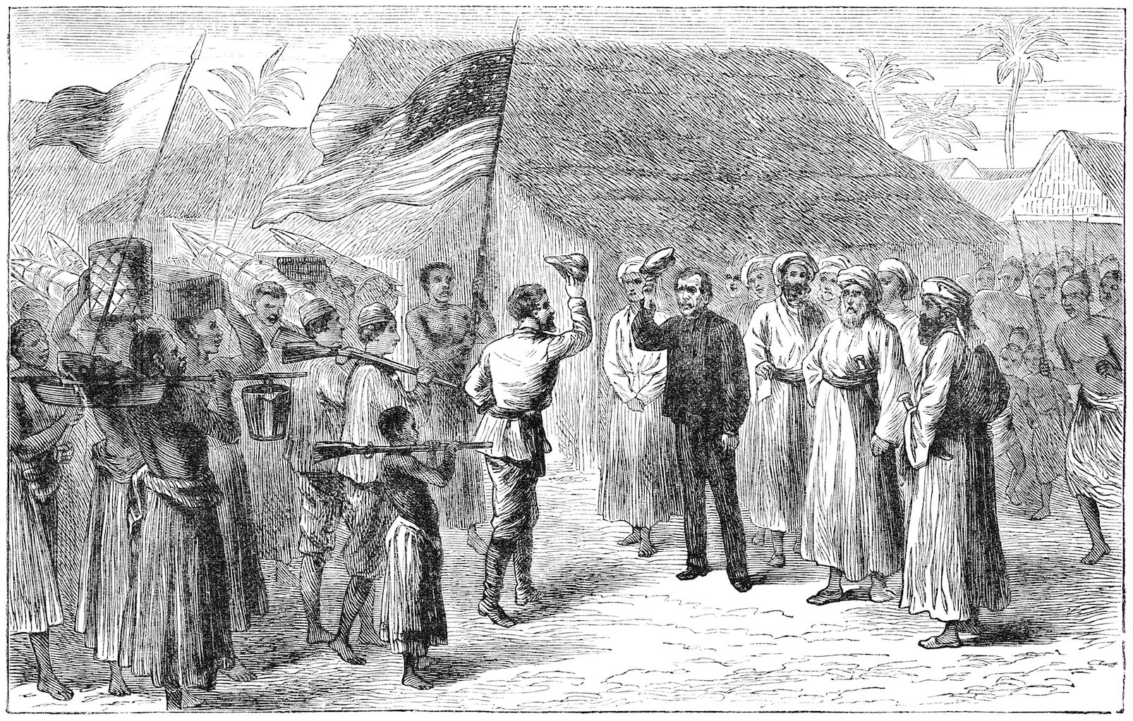 Explorer Henry Morton Stanley met explorer David Livingstone in what might have been described at the time as deepest, darkest Africa.
