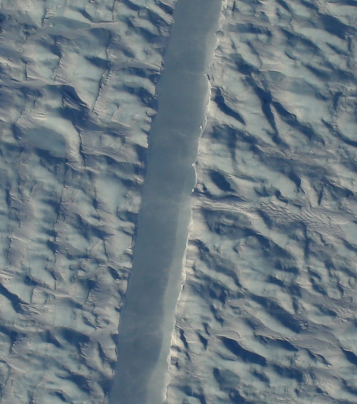 New satellite photos reveal that one of Greenland's largest glaciers may have an unexpected new crack, the Washington Post reported.