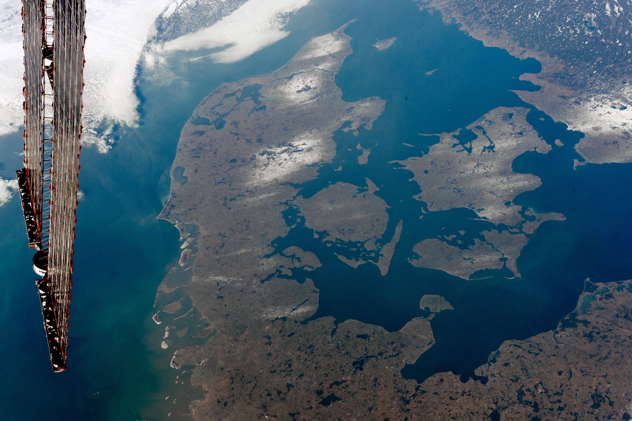 Today's Image of the Day comes courtesy of the NASA Earth Observatory and features a look at Denmark, as seen from the International Space Station.