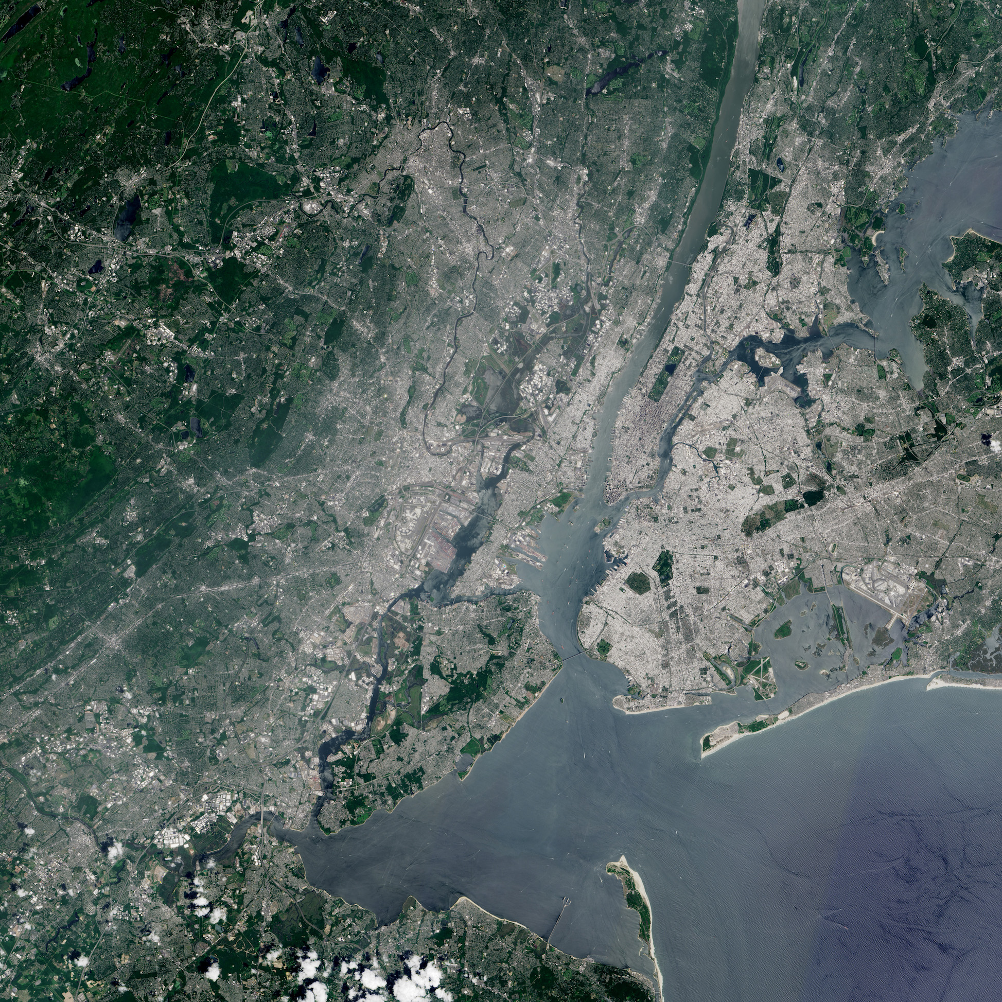 Today's Image of the Day comes thanks to the NASA Earth Observatory and features a look at the Statue of Liberty and Ellis Island in New York Harbor.