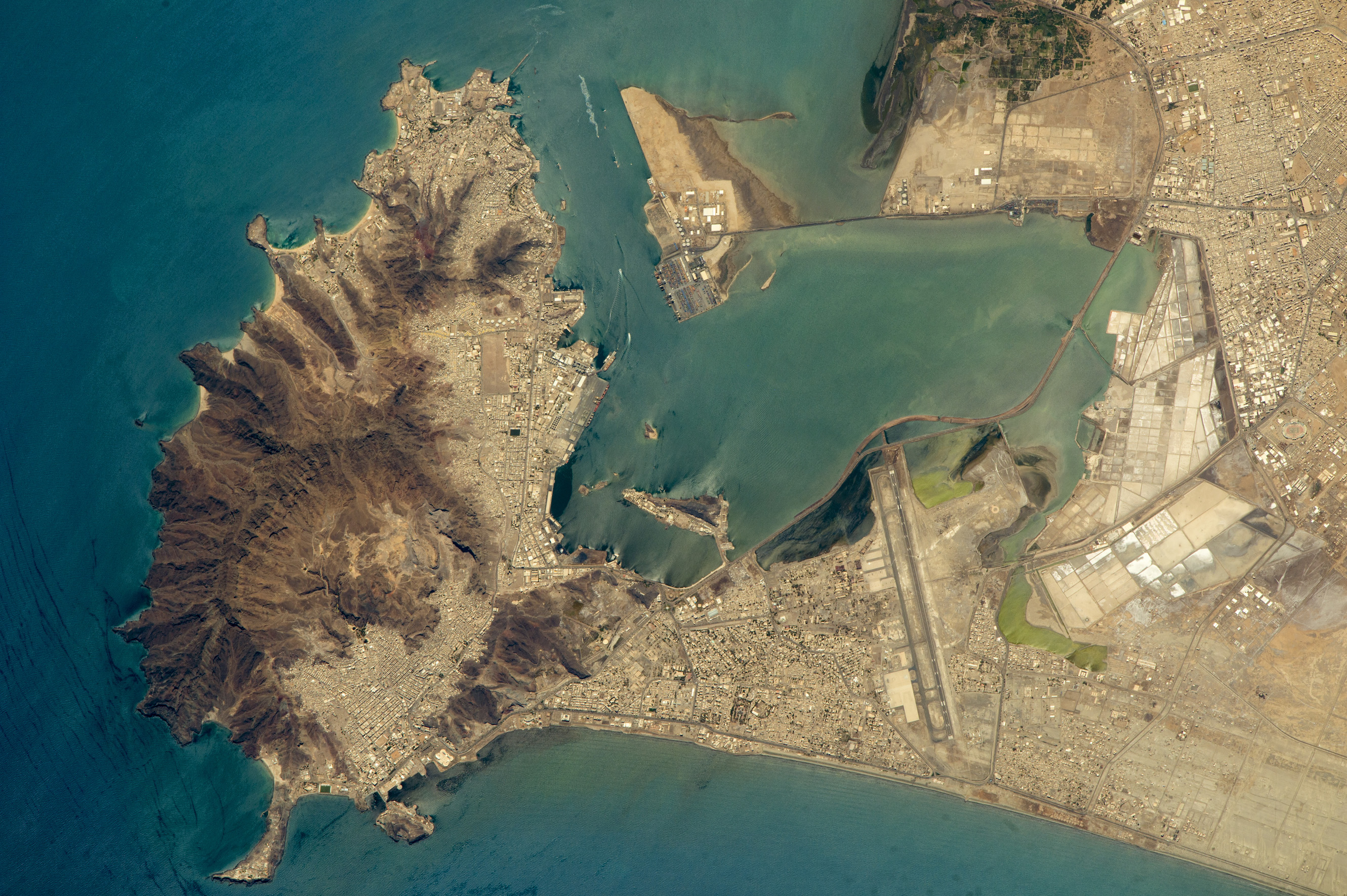 Today's Image of the Day comes thanks to the NASA Earth Observatory and features a look at an extinct volcano in the Port Of Aden, Yemen.