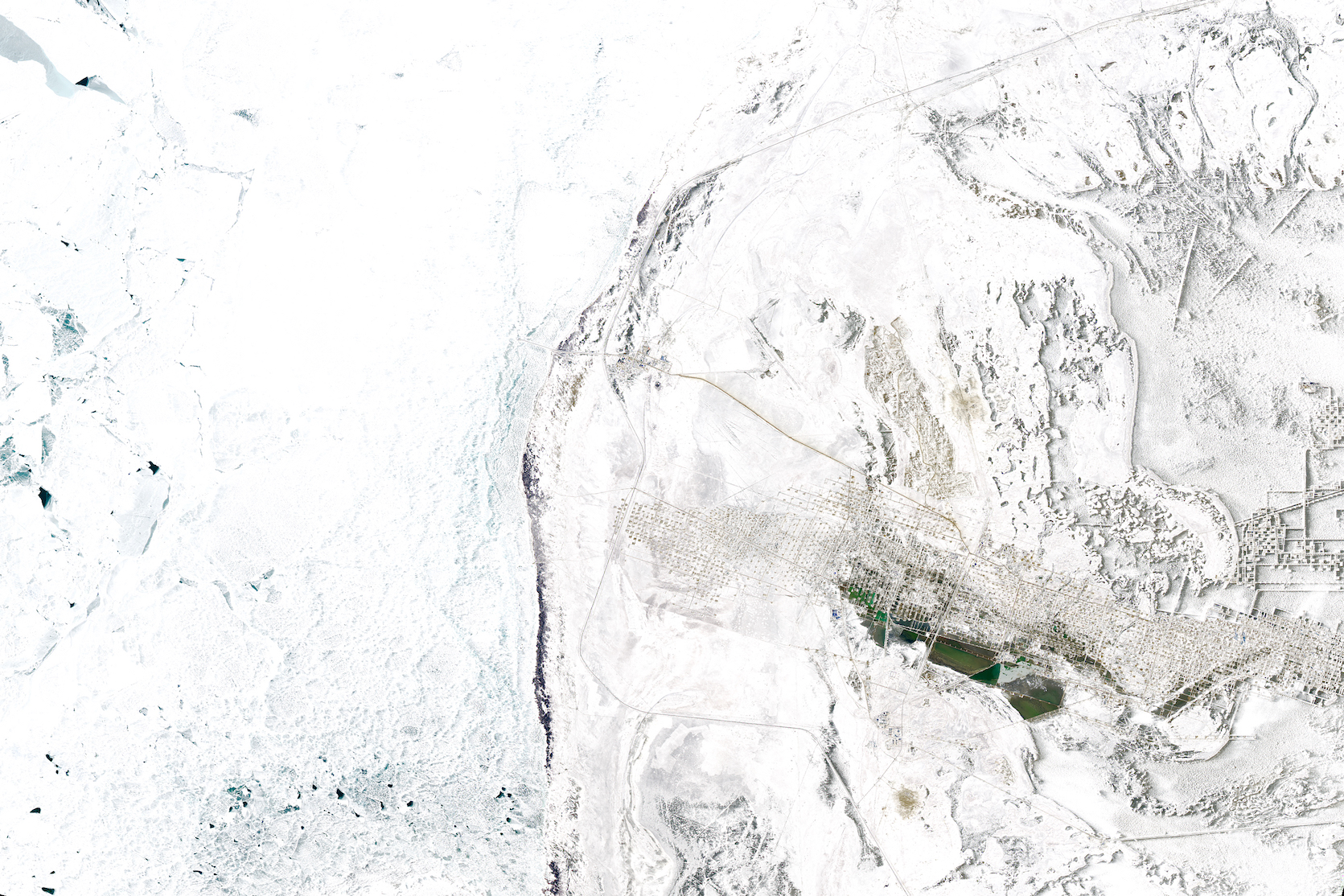 Today's Image of the Day comes thanks to the NASA Earth Observatory and features a look at the Karazhanbas oil field in the Mangystau Province of Kazakhstan