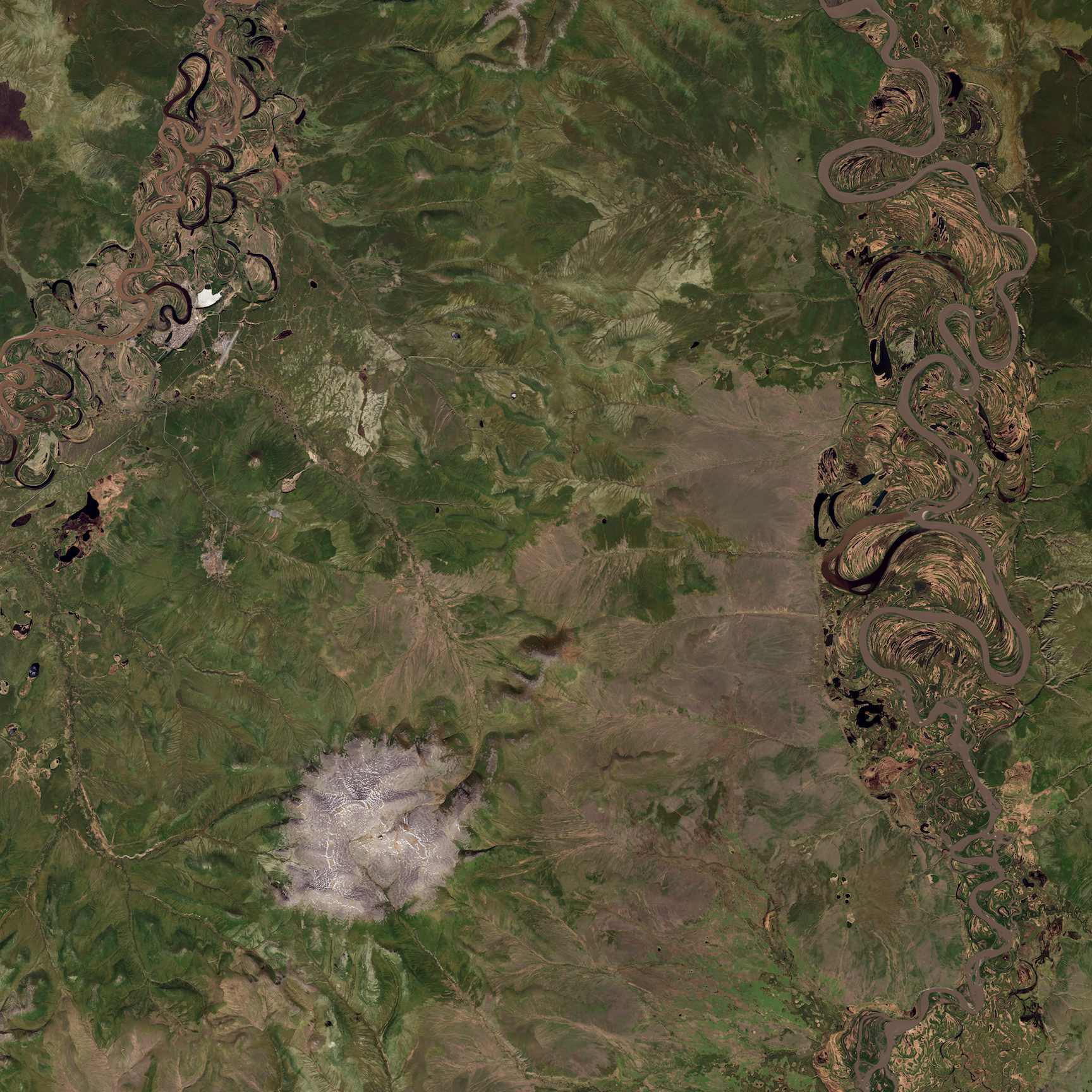 Today's Image of the Day comes thanks to the NASA Earth Observatory and features a look at the Batagaika Crater in Siberia.