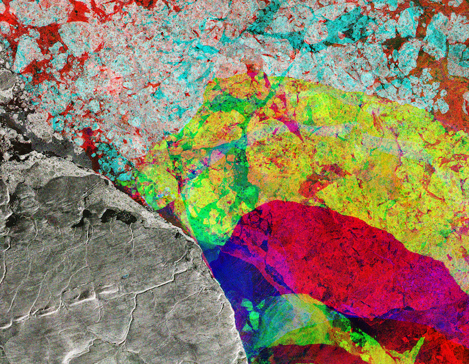 Today's Image of the Day comes thanks to the European Space Agency and features a look at Alert, Canada through a Sentinel-1 radar composite image.