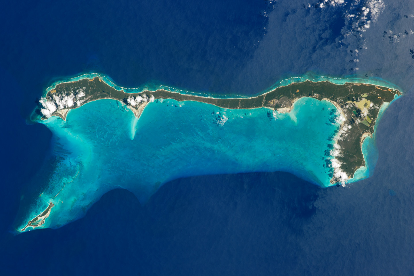 Today's Image of the Day comes thanks to the NASA Earth Observatory and features a look at the famous Cat Island in the Bahamas.
