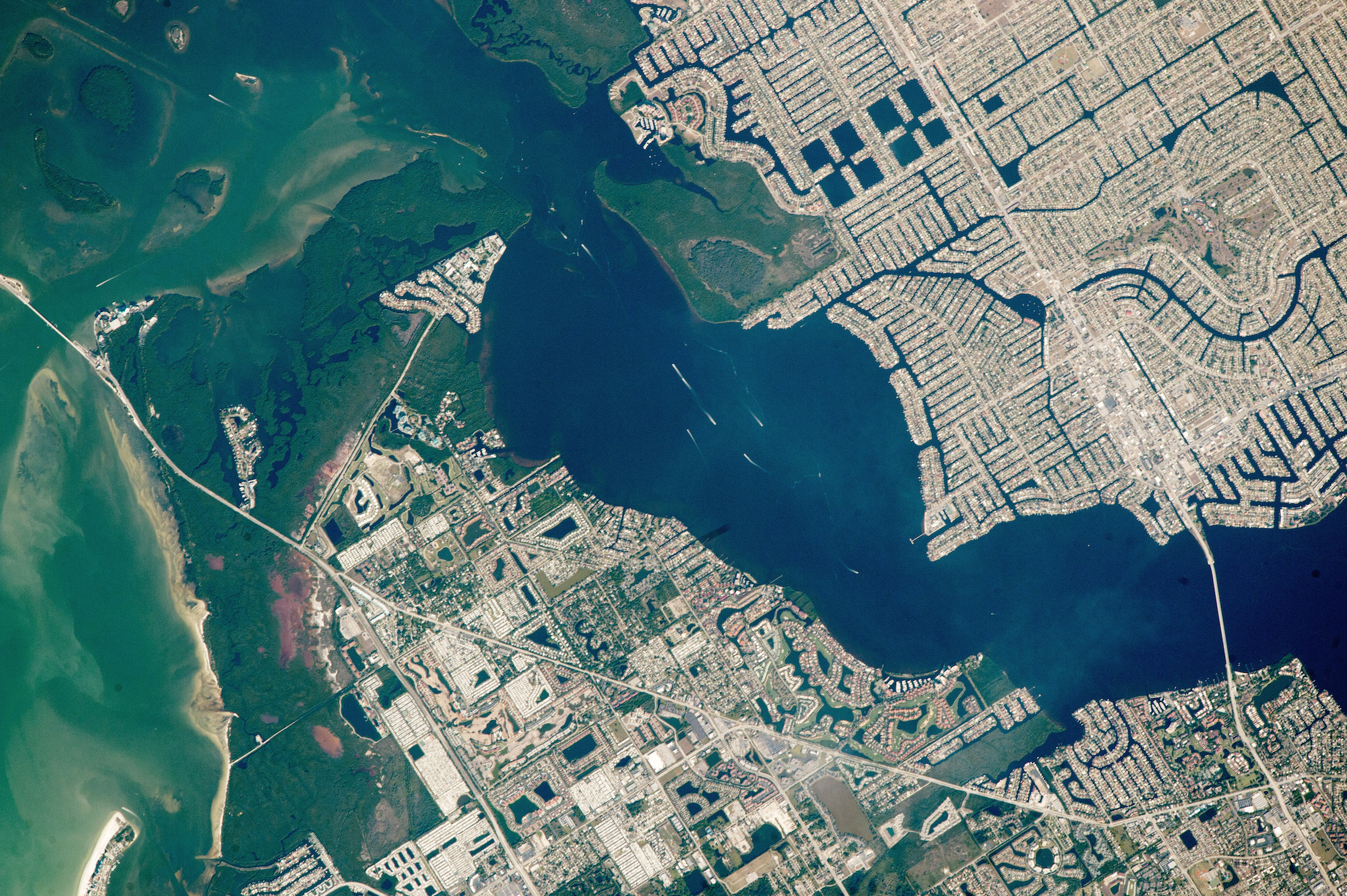 Today's Image of the Day comes thanks to the NASA Earth Observatory and features a look at Cape Coral, Florida from the International Space Station.