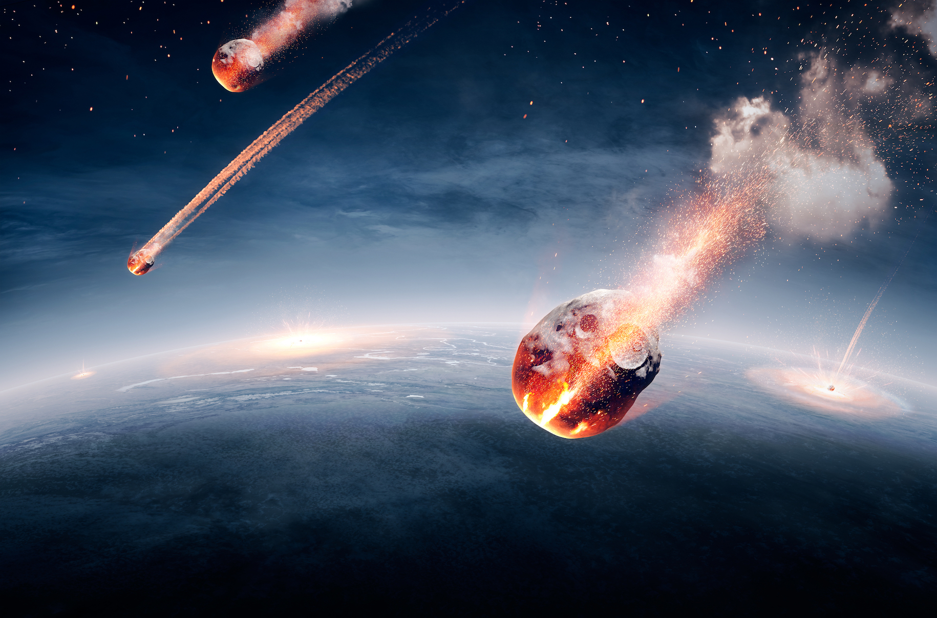 Scientists believe that in the early days of Earth, there was a period of time during which roughly 150 massive meteorite impacts occurred.