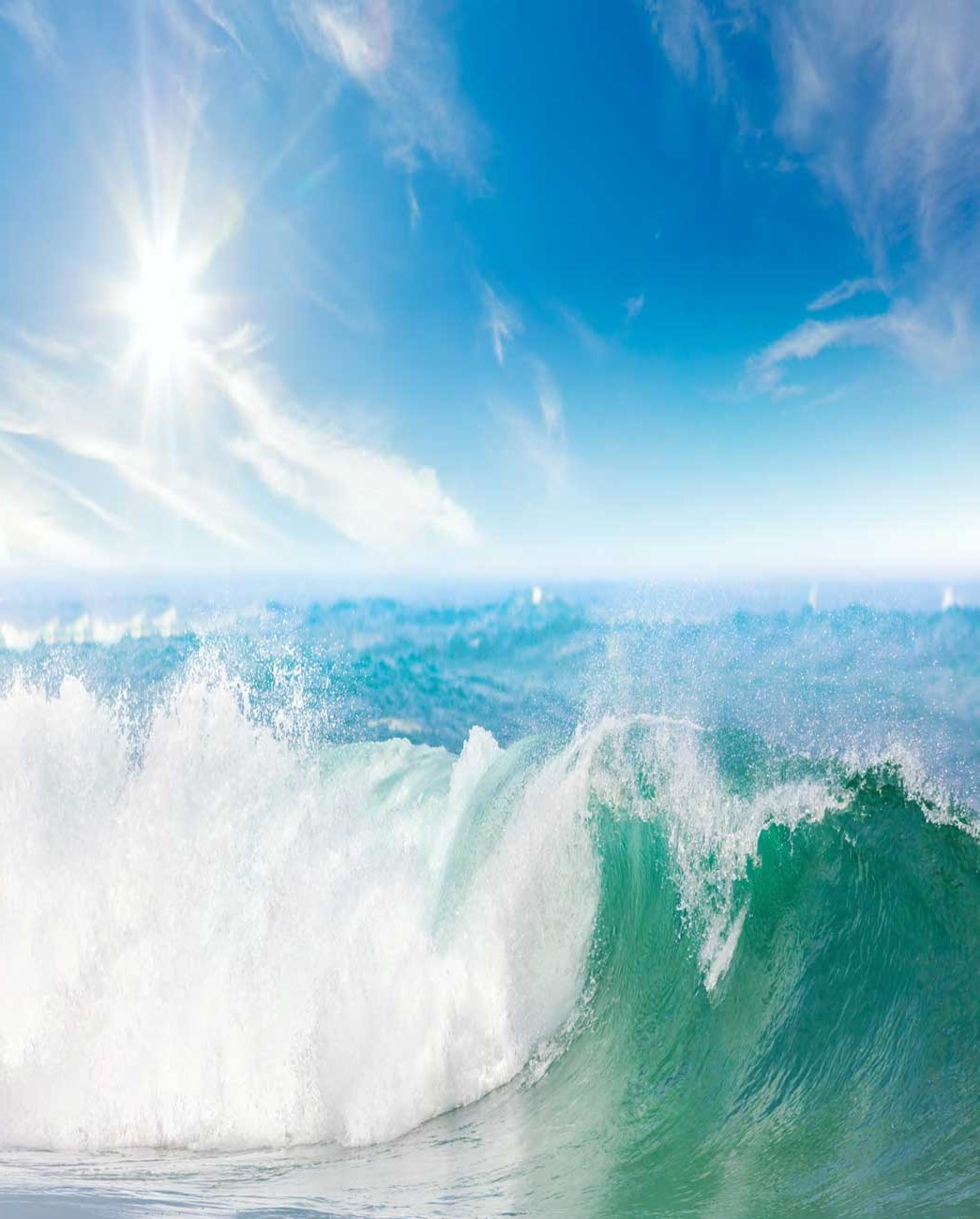 Sea spray aerosol scatters sunlight and plays a role in forming clouds, therefore having a major effect on the climate.
