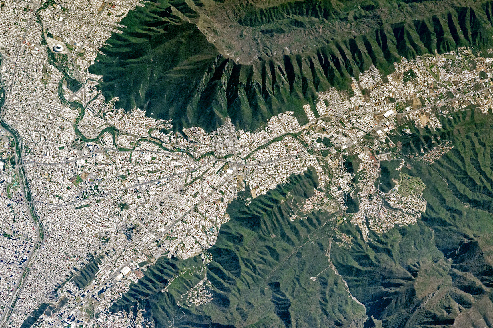 Today's Image of the Day comes thanks to the NASA Earth Observatory and features a look at Monterrey, the capital of of the Mexican state of Nuevo Leon.