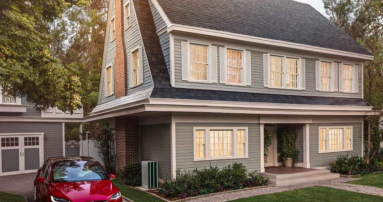 Electric-car maker Tesla is offering solar roof tiles that blend in with traditional roof material, with options for slate and terracotta.