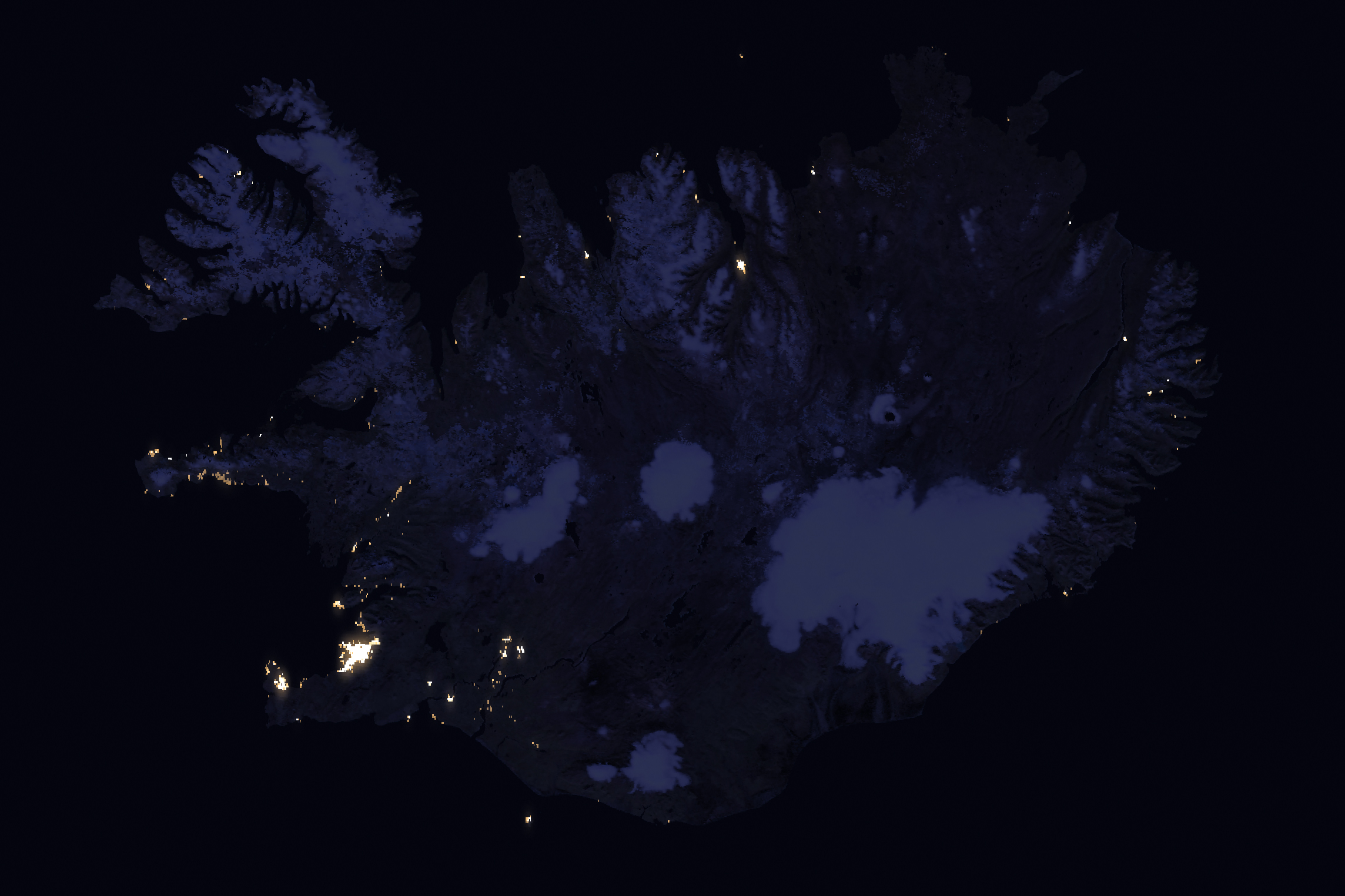 Today's Image of the Day comes thanks to the NASA Earth Observatory and features a look at Iceland at night.