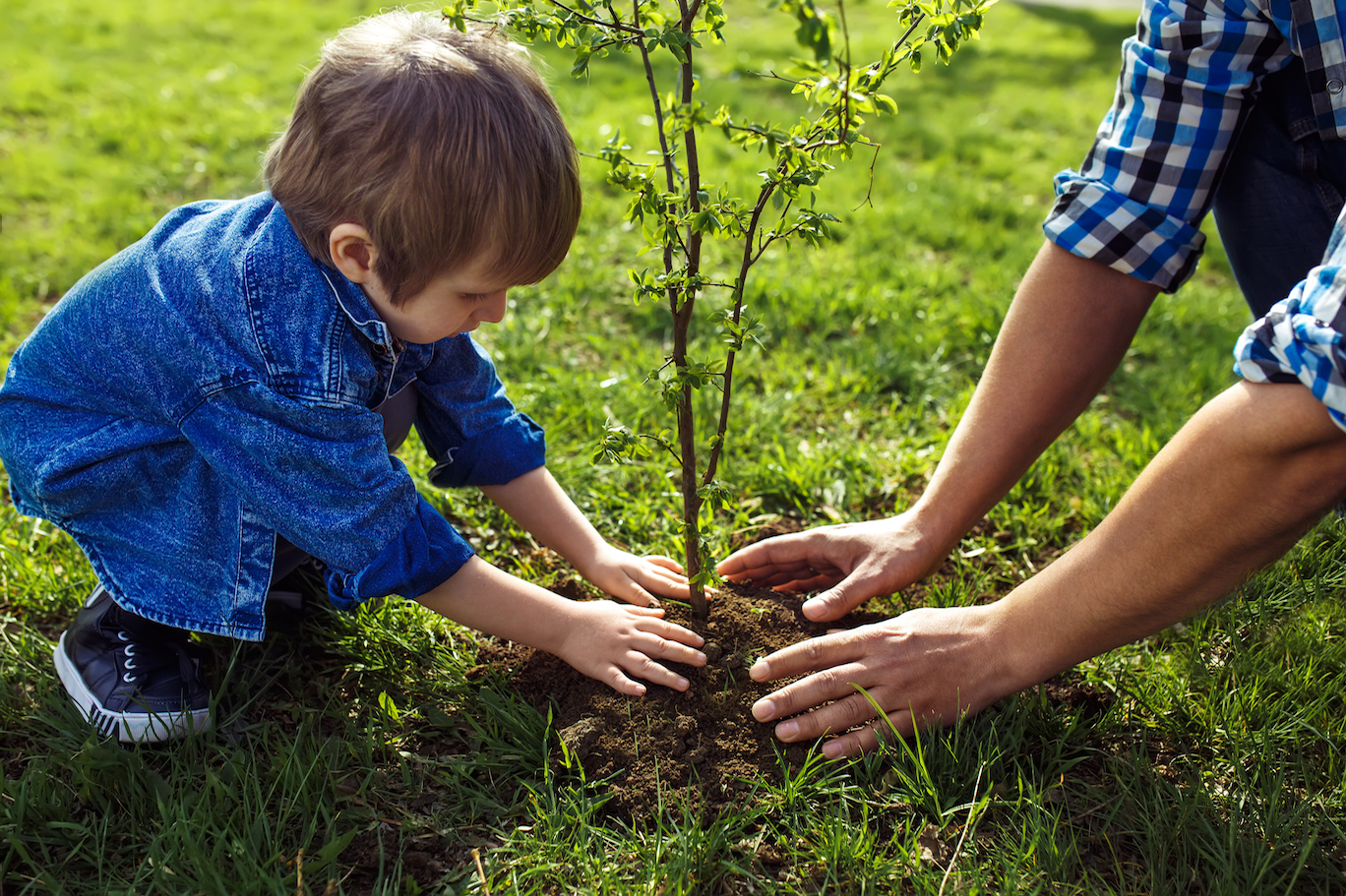 Children become environmentally responsible when they get involved. Here are some fun ways that families can create their own acts of green.