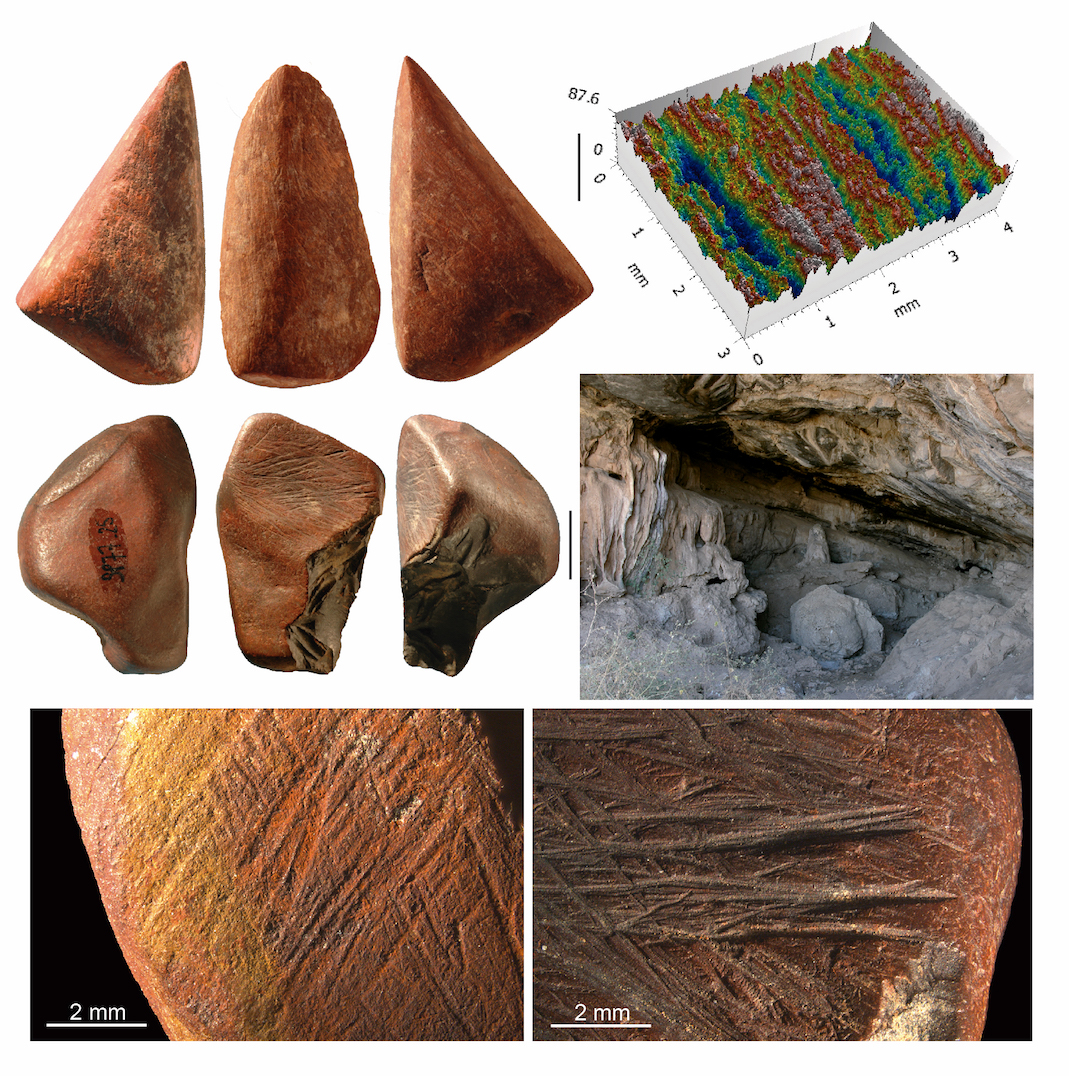 A new analysis of ochre collected from a cave in Ethiopia reveals ochre was used as a tool for at least 4500 years during the stone age.