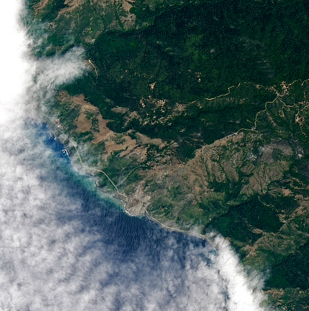 Today's Image of the Day comes thanks to the NASA Earth Observatory and features a look at a landslide that has buried a famous California highway.
