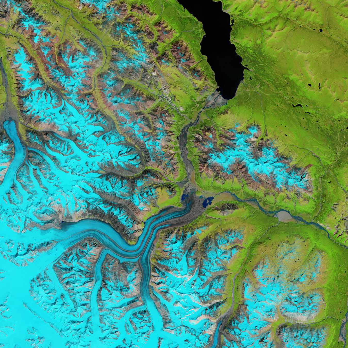 Today's Image of the Day comes thanks to the NASA Earth Observatory and features a look at the Kaskawulsh River and Slims River in the Canadian Yukon.