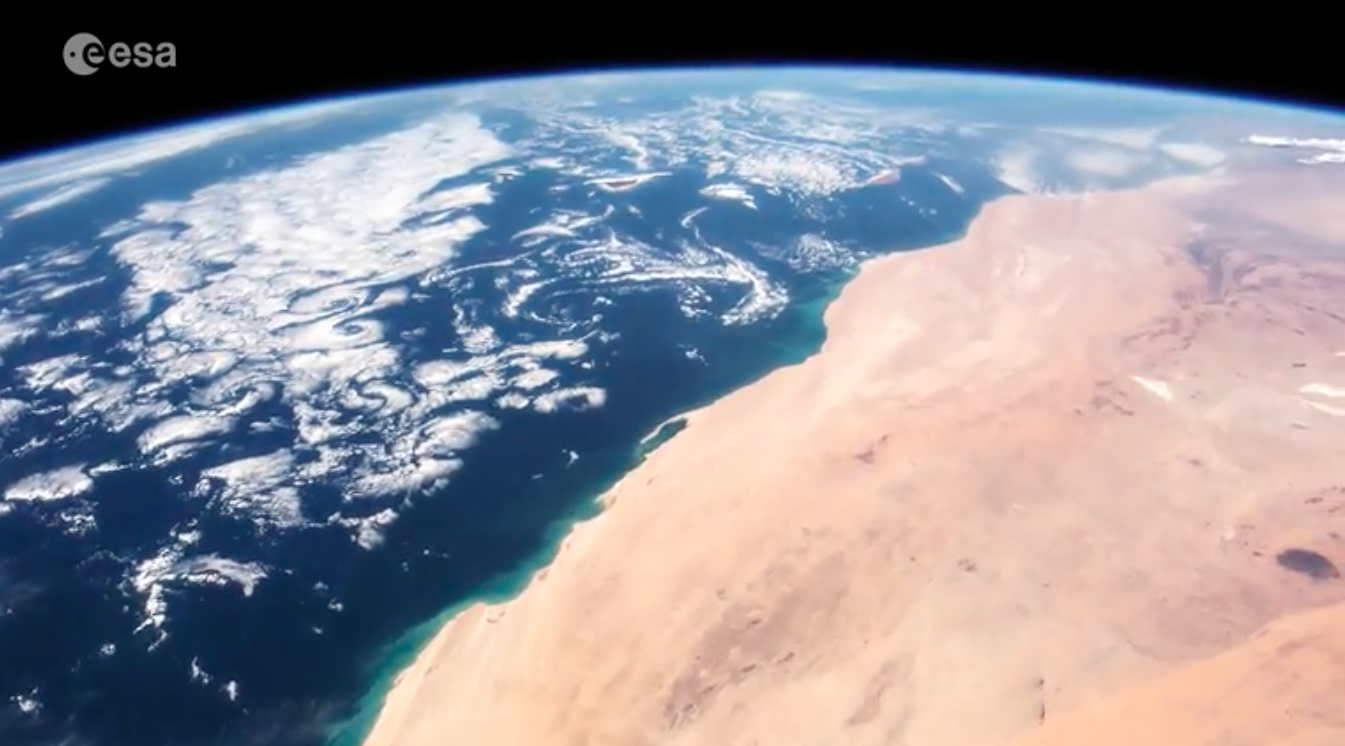 Today's Video of the Day features a look at astronaut Thomas Pesquet traveling on the International Space station over Cape Verde all the way to Russia.