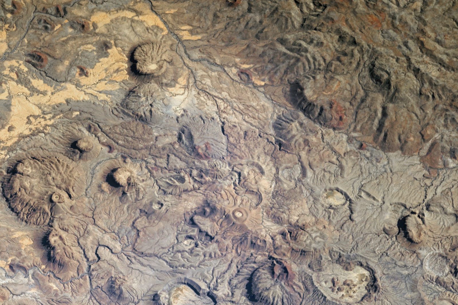 Today's Image of the Day comes thanks to the NASA Earth Observatory and features a look at the Meidob Volcanic Field in Sudan.