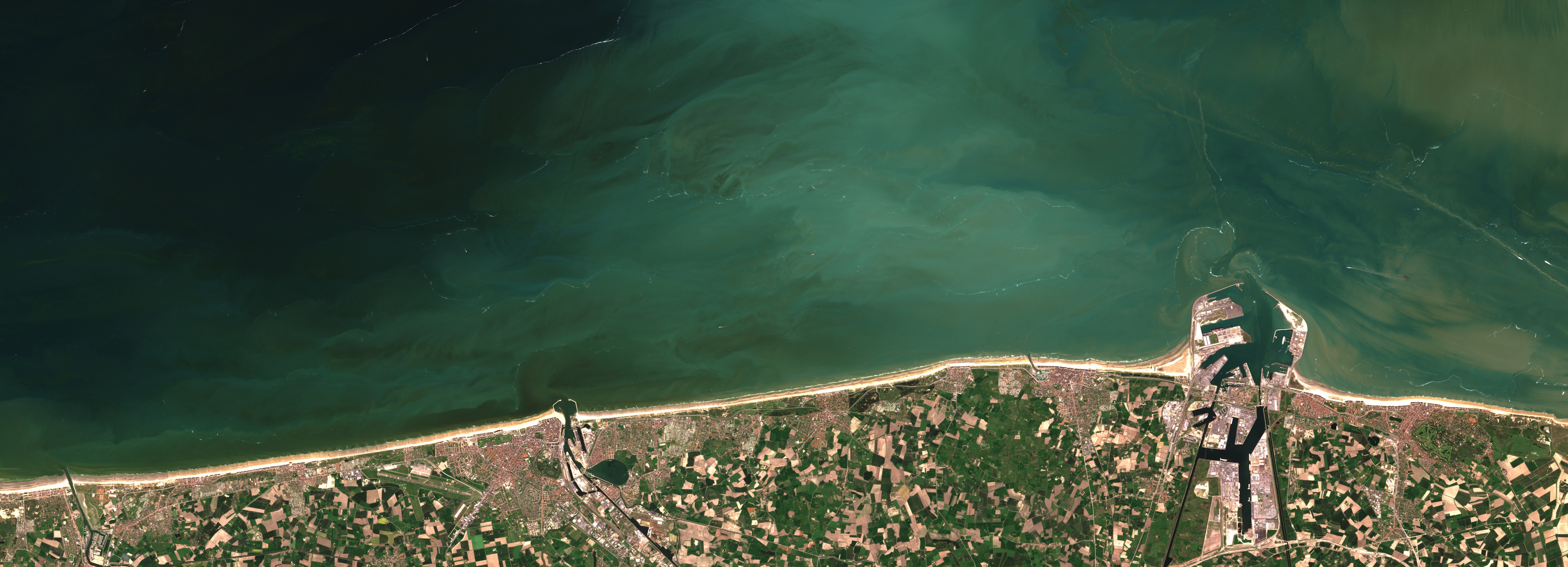 Today's Image of the Day comes thanks to the European Space Agency and features a look at a phytoplankton bloom off the coast of Belgium.