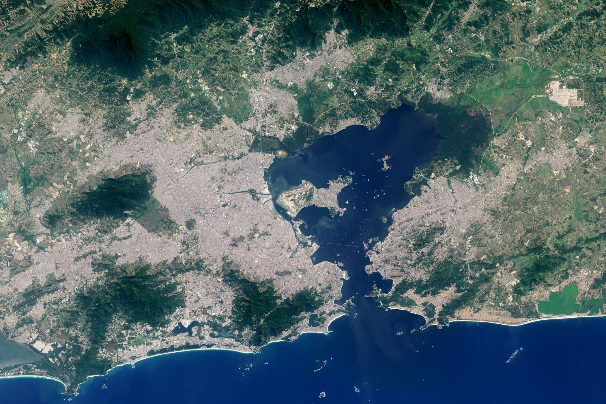 Today's Image of the Day comes thanks to the NASA Earth Observatory and features a look at the development of the city of Rio de Janeiro.
