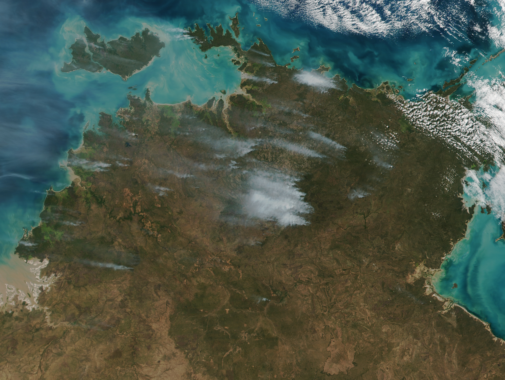 Today's Image of the Day comes thanks to the NASA Earth Observatory and features a look at fires burning in northern Australia.