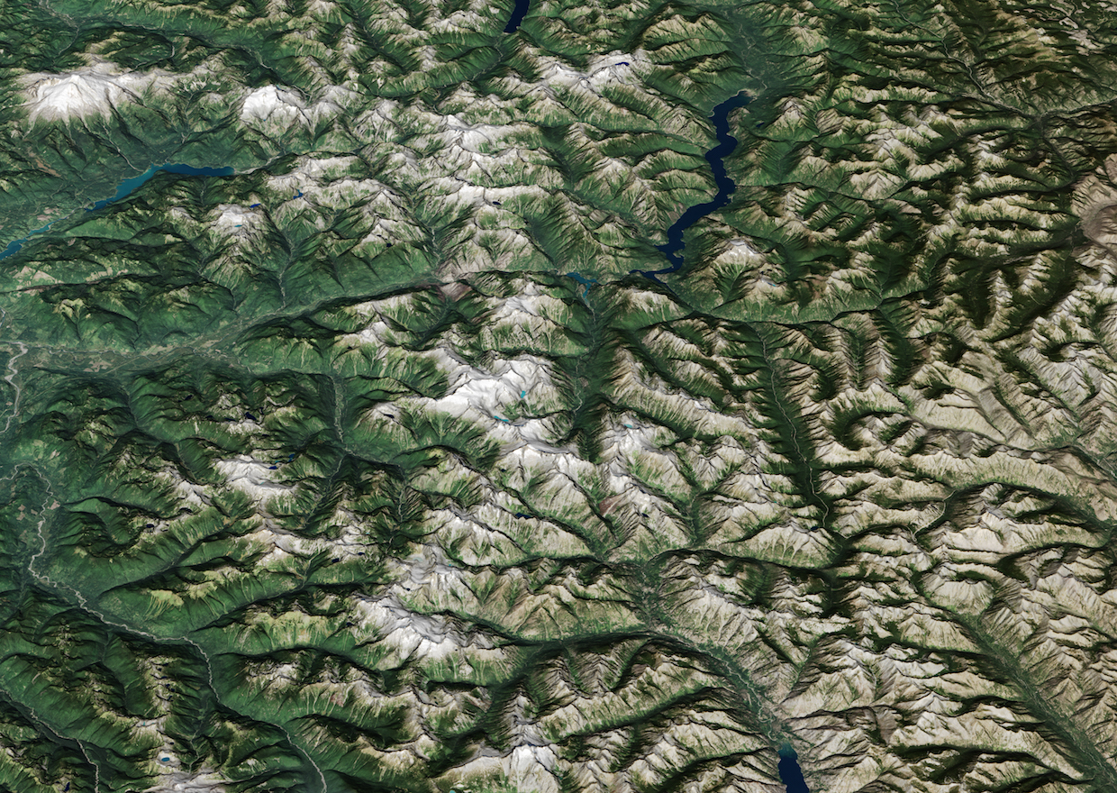 Today's Image of the Day comes thanks to the NASA Earth Observatory and features a look at North Cascades National Park in Washington.
