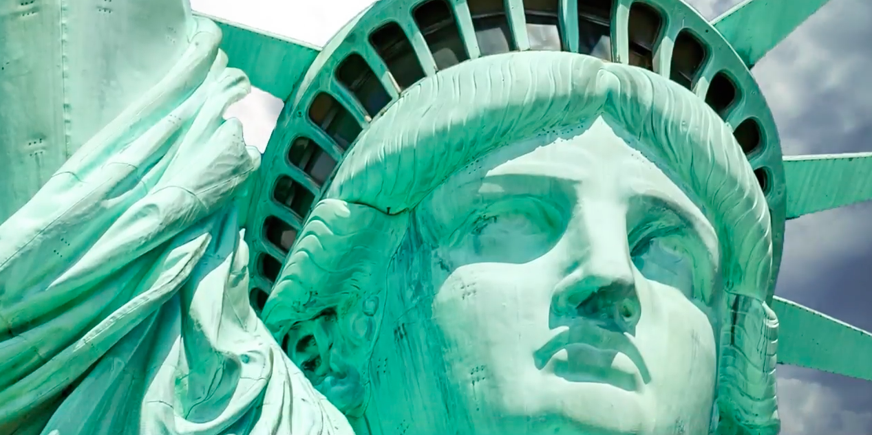 Did you know that the Statue of Liberty wasn't always green? Today's Video of the Day features a look at how it's color changed over time.