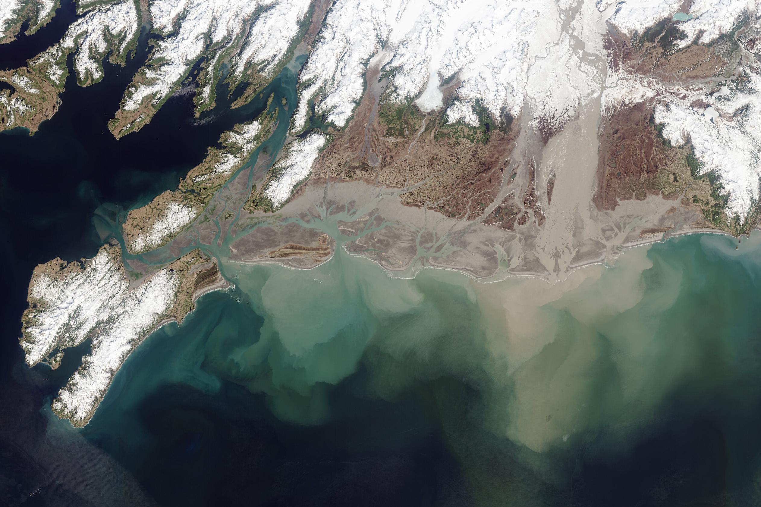 Today's Image of the Day comes thanks to the NASA Earth Observatory and features a look at the Copper River draining into the Gulf of Alaska.