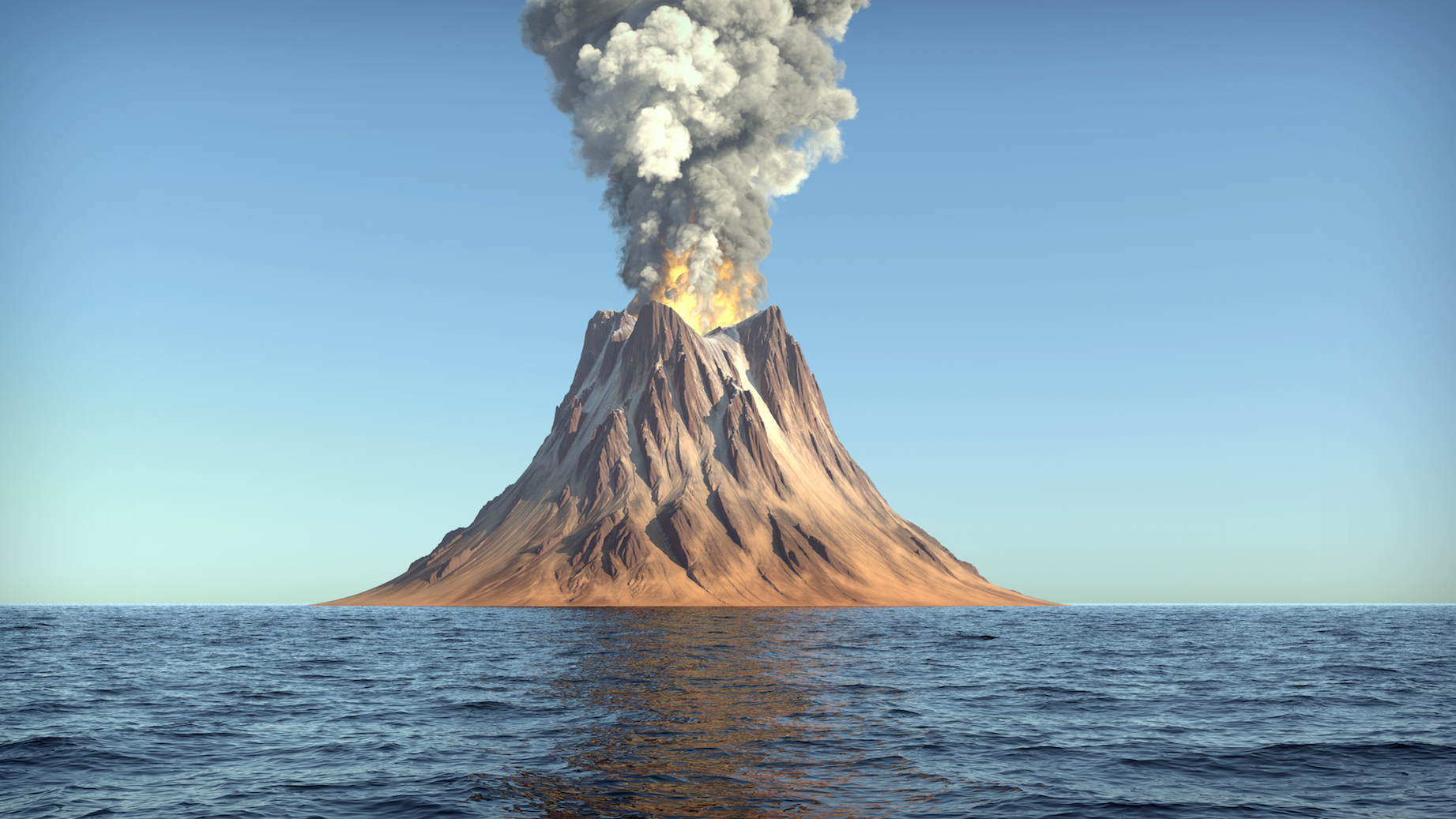 Volcanic activity in the oceans induced by falling sea levels may have caused an unusual decline in the Earth's temperature 80,000 years ago.