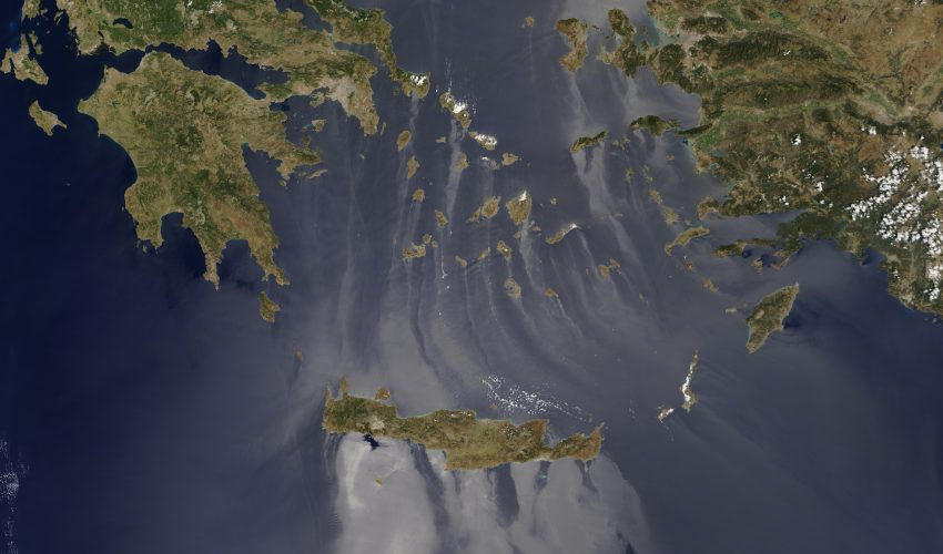 Today's Image of the Day comes thanks to the NASA Earth Observatory and features a look at the Aegean and Mediterranean Seas.
