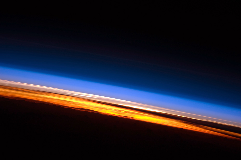 Today's Image of the Day comes thanks to the NASA Earth Observatory and features a look at sunset at the International Space Station.