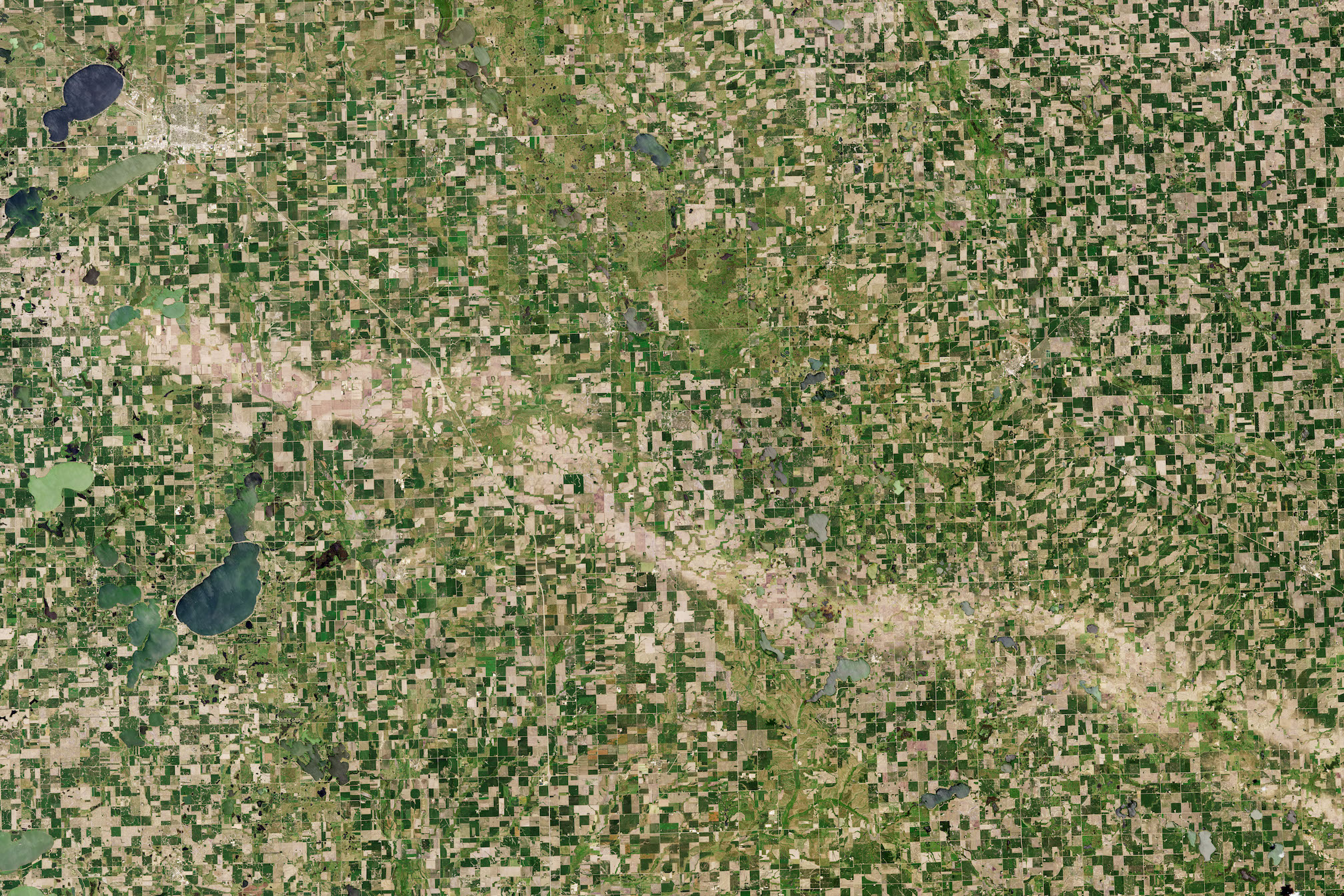 Today's Image of the Day comes thanks to the NASA Earth Observatory and features a look at hail damage in crop fields across South Dakota and Minnesota.