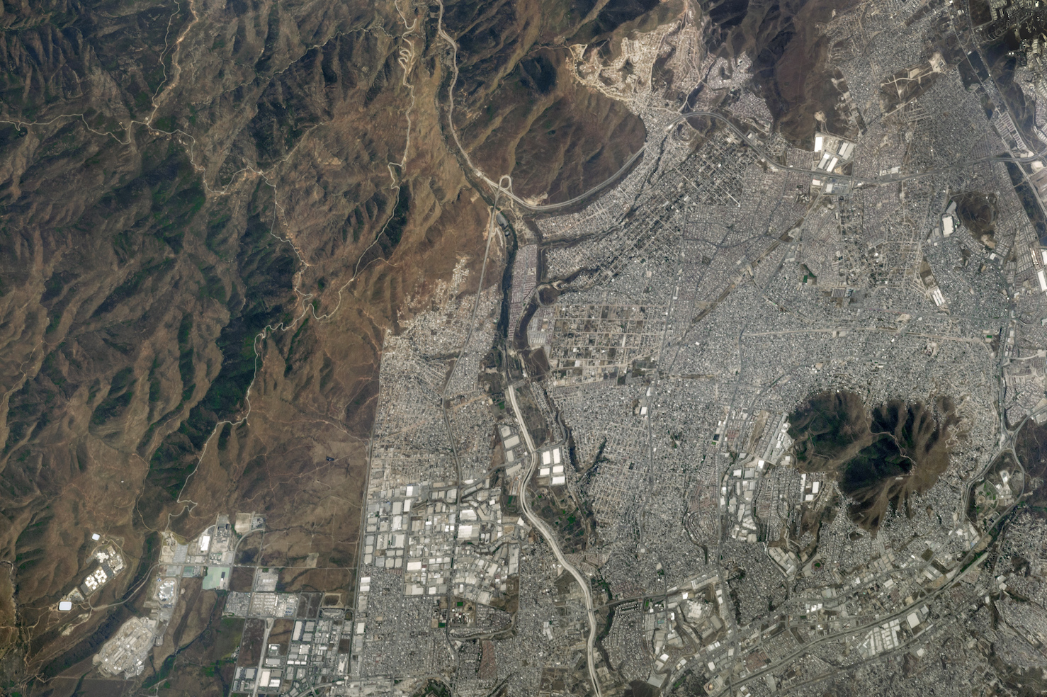 Today's Image of the Day comes thanks to the NASA Earth Observatory and features a look at the city of Tijuana on the U.S.-Mexico border.
