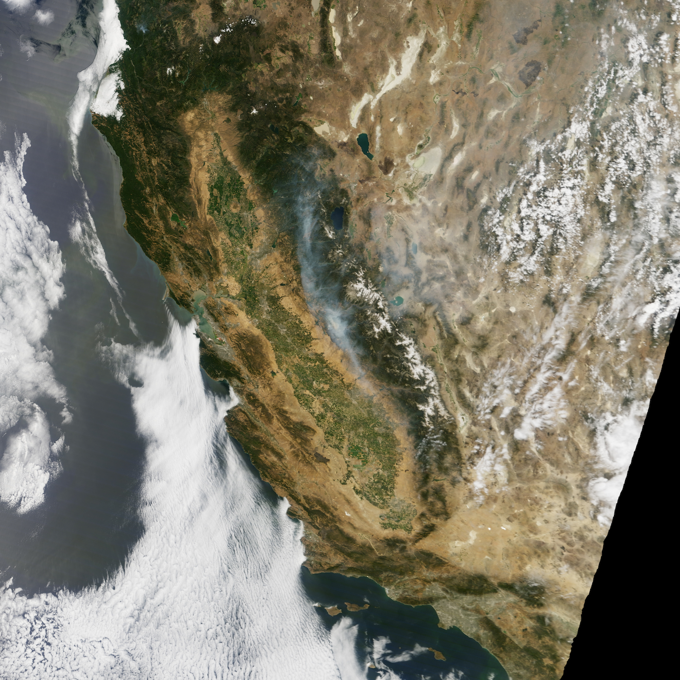 Today's Image of the Day comes thanks to the NASA Earth Observatory and features a look at the Detwiler Fire near Yosemite National Park.