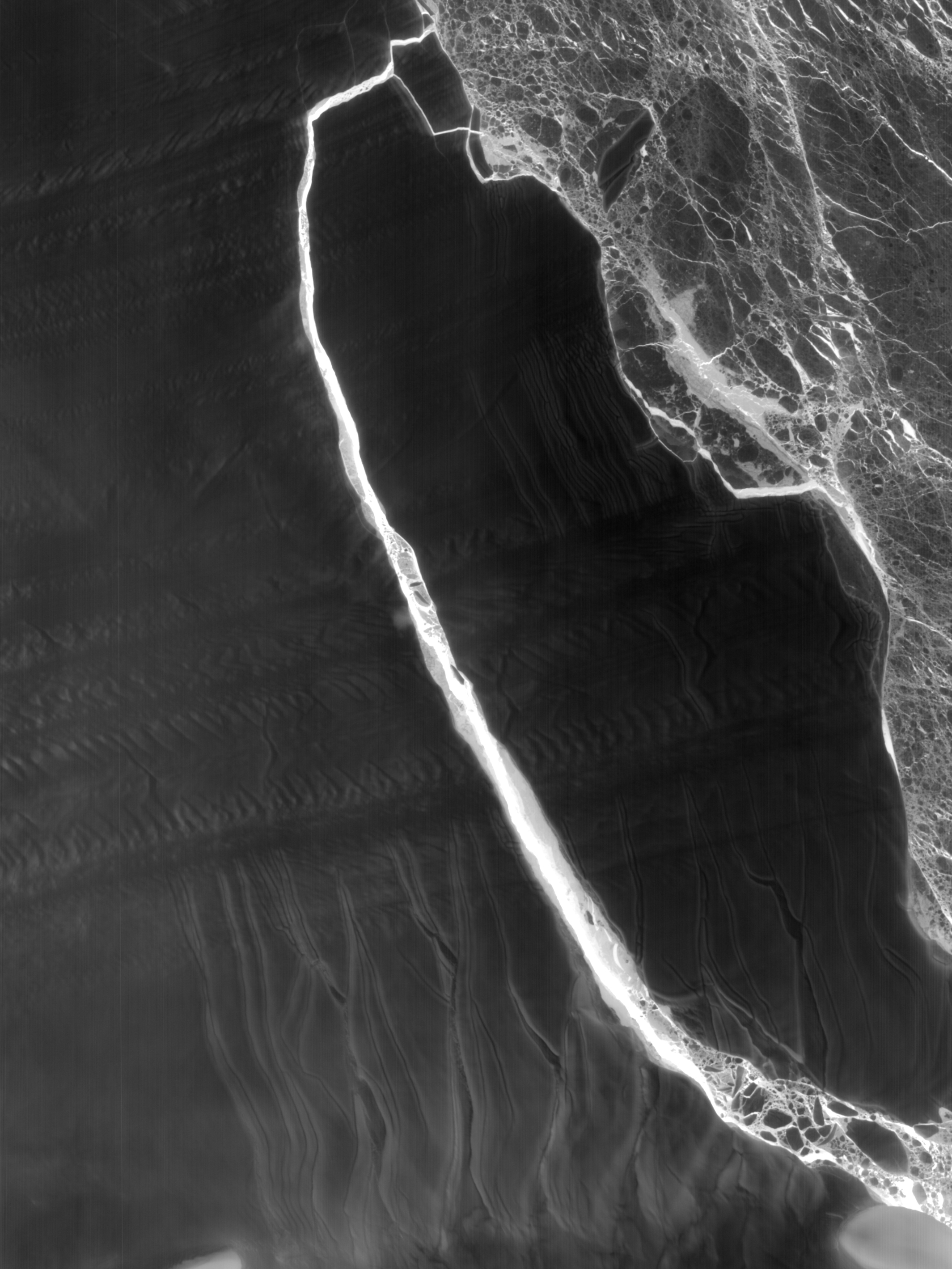 Today's Image of the Day comes thanks to the NASA Earth Observatory and features a look at the Larsen C iceberg beginning to breaking apart.