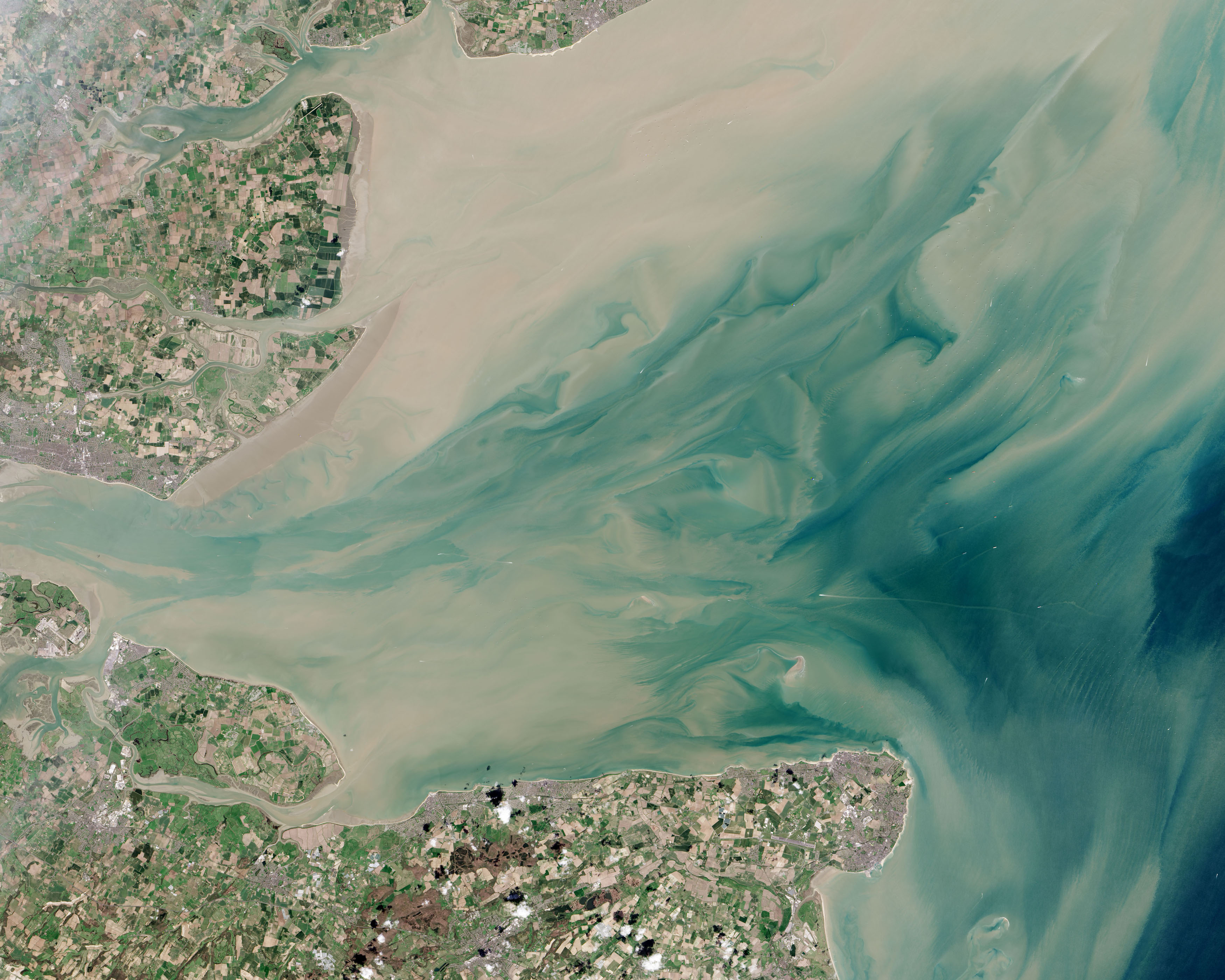 Today's Image of the Day comes thanks to the NASA Earth Observatory and features a look at the world's largest offshore wind farm: The London Array.