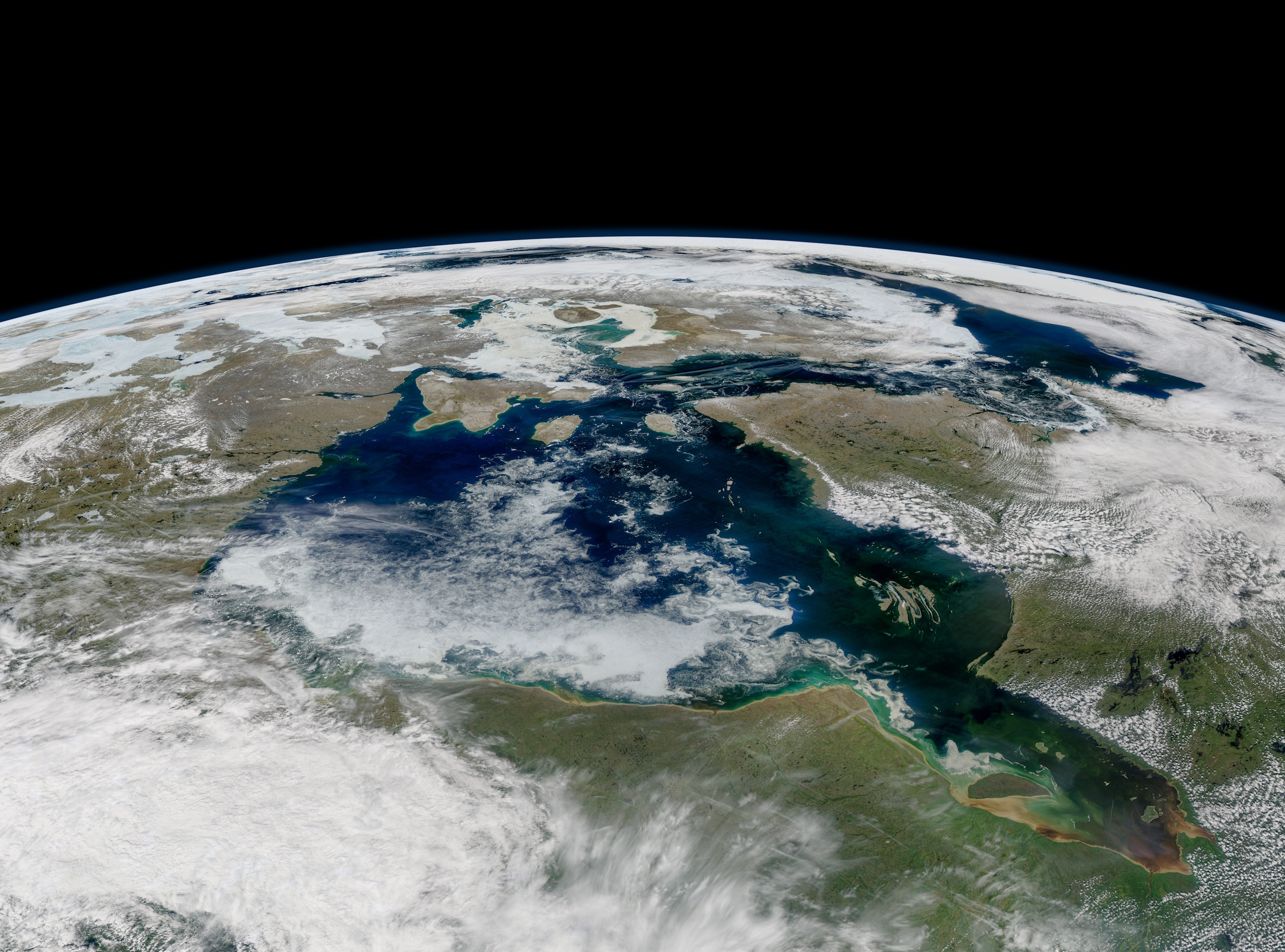 Today's Image of the Day comes thanks to the NASA Earth Observatory and features a look at sea ice lingering on the Hudson Bay.