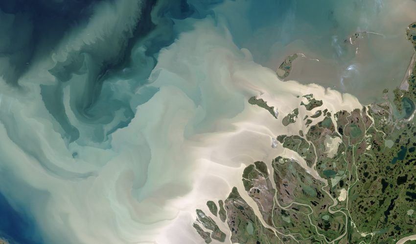 Today's Image of the Day comes thanks to the NASA Earth Observatory and features a look at the Mackenzie River Delta and the Beaufort Sea.