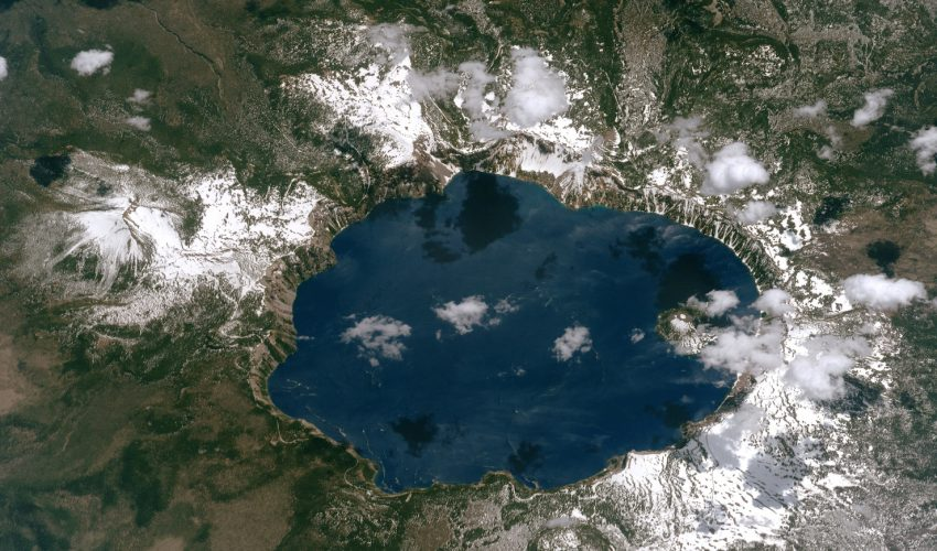 Today's Image of the Day comes thanks to the NASA Earth Observatory and features a look at Crater Lake in southwest Oregon.